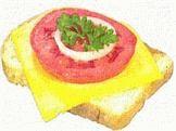 Бутерброд с колбасой и сыром