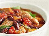 Рецепт овощного рагу с фасолью