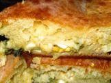 Пирог с яйцом и сыром