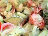 Салат из помидоров, огурцов и яиц