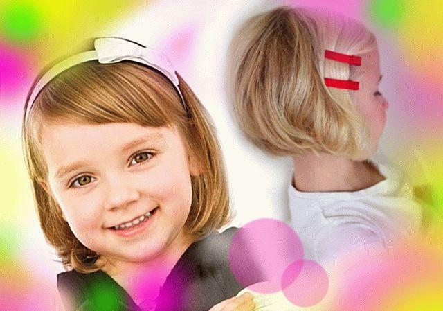 Детские прически - волосы короткие