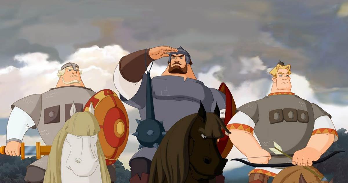 Мультфильмы Три богатыря онлайн
